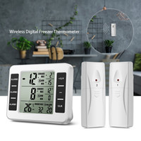 Wholesale digital lcd thermometer freezer for sale - Group buy Refrigerator Thermometer Wireless Digital Freezer Thermometer with Wireless Sensors Audible Alarm Min and Max Record LCD Display