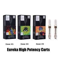 Wholesale vape screws for sale - Group buy Eureka High Potency Cartridge ml Gram Ceramic Coil Clear Tank Vape Vaporizer G5 Screw Carts for Thick Oil With Flavor Packaging Bag