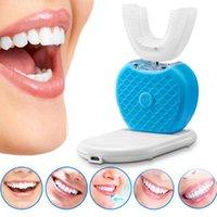 cepillo de dientes eléctrico nuevo al por mayor-Nuevo 360 grados de carga USB inalámbrica Lazy Automatic Sonic Silicone Cepillo de dientes eléctrico Cepillo de limpieza de dientes Herramienta de cuidado oral