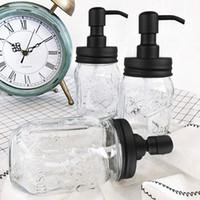 bombas de loción diy al por mayor-Bricolaje bomba de dispensador de jabón de mano de acero inoxidable Mason Jar Countertop Soap / Lotion Dispenser Jar Tapa DIY Dispensador de jabón líquido