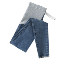 Wholesale winter clothes for maternity women for sale - Group buy 0252 Length Stretch Washed Denim Maternity Jeans Summer Fashion Pencil Trousers Clothes For Pregnant Women Pregnancy Pants Y19052003