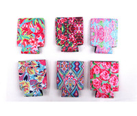 Wholesale canvas print people resale online - Neoprene Beer Can Covers Case Colorful Printing Cups Sleeve Floral Flowers Cup Holder For Summer Can Cooler Cola Cooling Protection B71902