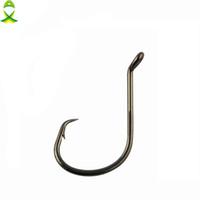 50pcs Size 6//0 Fishing 4x Strong circle hook offset black nickel Bulk Pack #6//0
