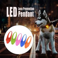 Wholesale dog charms for collar resale online - Pet LED Pendant Safety Flashing Glow Light Blinking LED Collar Pendant For Pet Dog Puppy x2 cm Dropshipping