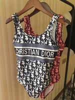 novo dr venda por atacado-Chegada nova Designer de Biquíni Mulheres Swimwear DR 2 cores Swimsuit Bandage Sexy Maiôs Sexy pad One-piece Swimsuits