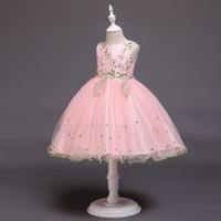 wachsende blumen großhandel-Sommermädchen 3 bis 12 Jahre Ballettröckchen blüht Kleider, Ball gewachsene Tulle-Parteikleidung, Kinderjugendlich-Butikenkleidung, 2AAX808DS-31