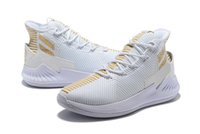 Wholesale massaging shoes prices for sale - Group buy D Rose white Gold shoes for sales new Derrick Rose Basketball shoes store price US7 US11