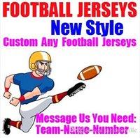 equipo de fútbol americano azul al por mayor-Camisetas personalizadas de fútbol americano. Personalizado del equipo de Nueva Orleans. Auténtico béisbol barato. Balón de hockey de baloncesto. 4xl 6xl 8xl azul.
