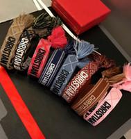 buchstabencharmearmbandschmucksachen großhandel-Berühmte Designer Schmuck American Indian Kunsthandwerk gewebte Armbänder Amulett Stickerei Brief Armband für Frauen Luxus Schmuck