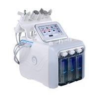 6 in 1 Hydrafacial Dermabrasion Machine Water Oxygen Jet Peel Hydra Skin Scrubber Facial Beauty Deep Cleansing RF Face Lifting Cold Hammer