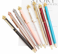 2019 New Designer Top Fashion Crown Metal Ballpoint Pen Rotating Luxury pen Creative School Supplies Exquisite Writing Tool Christmas Gifts