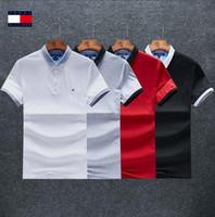 çeşitli giysiler toptan satış-19 erkek Çeşitli Stilleri Polos Rahat Düz Renk Giyim Yaz Moda Katı Pamuk Blend Kısa Kollu Nefes Boyutu M-3XL # 126