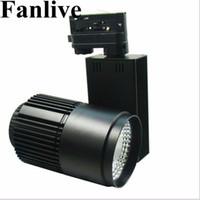 cob reflektorlampe großhandel-Fanlive 40 Watt COB Schienenlampe Lichter ac110v 220 v Schienenstrahler Leds Tracking Fixture Scheinwerfer Reflektoren Für Bekleidungsgeschäft