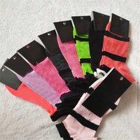 Wholesale cycling for sale - Pink Ankle Socks Black Blue Sports Cheerleaders Short Sock Girls Women Cotton Sports Socks Pink Skateboard Sneaker Stockings With Tags