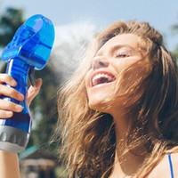 распылительная вода для вентилятора оптовых-Мини Ручной портативный Распыление путешествия Ручка Распыление воды прохладный туман вентилятора бутылки тумана Спорт Путешествия Пляж Camp