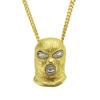 mens gold chain link styles 2021 - Hip Hop CSGO Pendant Necklace Mens Punk Style Anti-Terrorism Headset 18K Alloy Gold Silver Plated Mask Head Gold Silver And Black