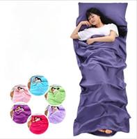 Wholesale hotel beds online - hotel Sleeping Bag Sleep Sack for Outdoor Travel Hiking Hotels Picnics Anti Dirty Bed Sheet LJJK1150