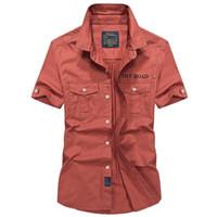 jeephemden großhandel-Original Afs Jeep Marke Männer Shirts Kurzarm Atmungsaktiv Plus Größe 4xl Coole Sommer Importierte Kleidung Camisa Social Masculina Y190506