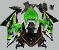 carenado moto al por mayor-4 regalos Nueva moto motocicleta ABS carenados kits aptos para la Kawasaki Ninja ZX6R 636 2005 2006 05 06 6R kits de 600cc carenado negro fresco verde