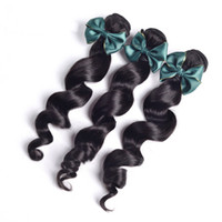 Wholesale human hair extentions resale online - Soft Real Brazilian Human Hair Extentions a Double Wefts Malaysian Virgin Hair loose Wave g pc Cheap Natural Wavy loose Wave Hair Weave