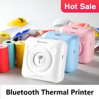 drahtlose bilder großhandel-Tragbarer Bluetooth-Thermodrucker 58 mm Mini-kabelloser POS-Thermobild-Fotodrucker für Android-iOS-Mobiltelefone Peripage A2