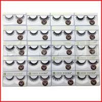 insan saç kirpikleri toptan satış-3D Kirpikleri Doğal Yanlış Eyelashes Uzun Kirpik Uzatma% 100 İnsan Saç Sahte Göz Lashes Makyaj Aracı 10 Çiftler 20 Styles set