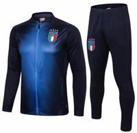 установить футбол оптовых-Итальянская спортивная куртка Футбольная куртка TRAINING SUIT acket It chandal set Survetement italia Football СПОРТИВНАЯ ИЗДЕЛИЯ
