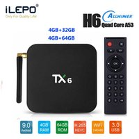 en iyi wifi toptan satış-TX6 TV Box 2019 Top 10 4gb 32gb 64gb En Akıllı Android 9.0 TV Box 5G WiFi BT5.03d 4k H.265