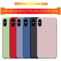 ingrosso scatola al minuto di caso di iphone6-Custodia per telefono Custodia originale in silicone per iPhoneXs per iPhoneXs Max XR per iPhone6 7 Custodia 8Plus per Apple Cover