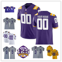 5b504d1fe Custom LSU Tigers 2018 College Jerseys Jamal Adams Tae Provens Mannie  Netherly Travin Dural Devin White Aaron Moffitt With 125th Patch