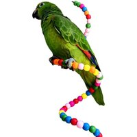 Wholesale rotating beads resale online - Parrot Frame Mu Zhu Rotating Parrot Climb The Ladder A String Of Beads Swing Station Pole Tiger Skin Peony Cockatiel