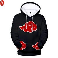 4xl anime hoodie großhandel-Naruto 3D Gedruckt Hoodies Frauen / Männer 2018 Heißer Verkauf Langarm Lässige Trendy Mit Kapuze Sweatshirts Anime Mode Streetwear Kleidung