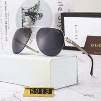 ingrosso lenti chiare-Occhiali da sole di lusso Occhiali da sole firmati Designer di moda per uomo in vetro con scatola e logo G5013 Lenti in nylon ultraleggero