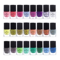 Wholesale polish stamping manicure plates resale online - BORN PRETTY ml Nail Stamping Polish Candy Color Nail Art Plate Printing Polish Varnish Art Manicure Lacquer Colors