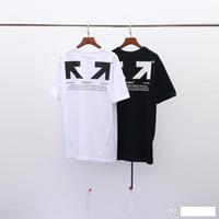 roupas brancas venda por atacado-Luxos Designers 100% de Desconto 2019 Verão New chegada dos homens da qualidade superior Roupa Branca T-shirt Imprimir Moda Tees EURO Tamanho S-XL OW020