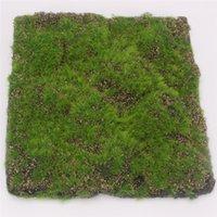 ingrosso tappeto falso-30 CM X 30 CM Simulazione Moss Turf Prato Parete Verde Pianta Falsa FAI DA TE Erba Artificiale Consiglio di Nozze Casa Albergo Sfondo Negozio Decorazione Della Finestra