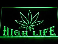 Wholesale neon sign lighting resale online - 403 Leaf High Life Bar LED Neon Light Signs with On Off Switch Colors Sizes to choose