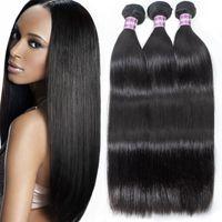 Wholesale brazilian straight hair weave sale resale online - 8A Mink Brazillian Straight And Body Wave Unprocessed Brazilian Remy Human Hair Weave Bundles Back To School Sale