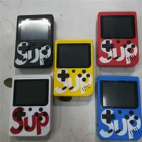 caixa md venda por atacado-SUP 400 EM 1 Jogo CAIXA Console Mais Handheld JOGO PAD Colorido Tela LCD Mini Game Players com caixa de varejo