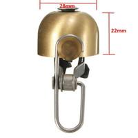 manillar de aluminio mtb al por mayor-Ciclismo bicicleta campanas de aluminio cuerno anillo MTB bicicleta mini campana manillar anillo claro fuerte sonido accesorios de bicicleta al por mayor