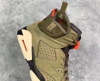 lueur sombre chaussures vente achat en gros de-2019 Authentique Travis Scott Air 84 Jordan 6 À Vendre Jack Moyen Cactus Olive CN1084-200 GLOW IN THE DARK Chaussure De Basket-ball Pour Hommes