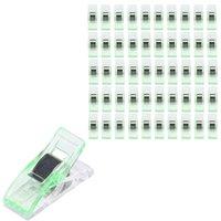máquinas de coser colcha al por mayor-Máquina de coser Herramientas de costura 50 PCS Claro Craft Quilt Binding clips de plástico Abrazaderas Paquete Accesorios al por mayor de 40D15