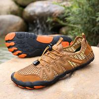 zapatos rapidos al por mayor-Senderismo Zapatos de ascenso para los hombres cinco dedos descalzos de los hombres zapatillas de deporte al aire libre en seco Ligera rápida de Aqua Fitness Sports Shoe