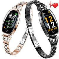 Wholesale best smart wristbands online – Women Smart Wristband H8 Fitness Bracelet Heart Rate Monitor Blood Pressure Blood Oxygen Smart band Best Gift for Lady smartwatch