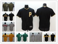 Wholesale blank orange baseball jerseys resale online - Pirates Jersey custom Men s Women Youth Majestic Pirates Blank Personalized Name and Number Home Black Yellow Baseball Jerseys