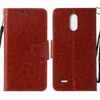 ingrosso lg stilo-Custodia a portafoglio in PU retrò per LG Stylus 3 Stylo 3 Custodia Cover per LG LS777 Flip Cover Custodie per cavalletti con tasca per carte