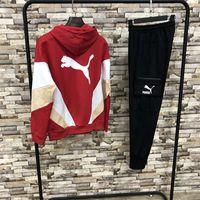 ingrosso uomini di tuta da leopardo-Uomo Estate Marca Tuta Felpa con cappuccio Suit Lettere Stampa Leopard Pattern Casual Vestito da maglione Joggers Marca Tuta con cappuccio Tuta S-2XL # 4113