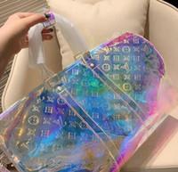bolsas de asas transparentes para mujeres al por mayor-19ss diseñador de viaje Crossbody bolsa de equipaje hombres bolsas keepall 50 pvc bolsas transparentes mujeres duffle Cross bodybag
