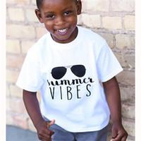 Wholesale baby glasses clothes resale online - Children s T Shirt Boys Girls T shirt Baby Clothing Little Boy Summer Shirt Cotton Tees Cartoon Glass Clothes