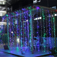 Wholesale background color flash for sale - Group buy 10M x M LED Twinkle Lighting LED Xmas String Fairy Wedding Curtain background Outdoor Party Christmas Lights Color Choice V V